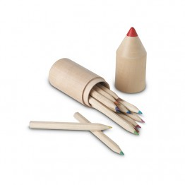 12 creioane în cutie din lemn  IT2691-40